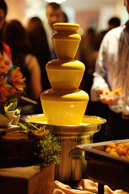 wedding nacho cheese fountain, cheese fountain