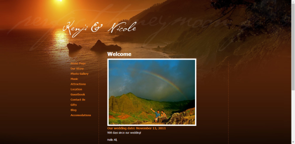wedding websites, personalized wedding website, wedding website
