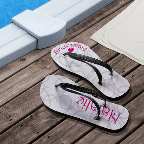 wedding gifts, bridesmaid gift, personalized flip flop, custom flip flop