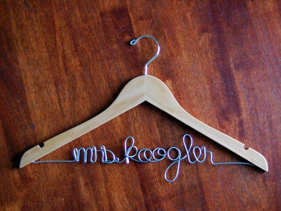 free personalized wedding hanger, wedding hanger