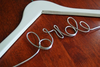 personalized wedding hanger, janell