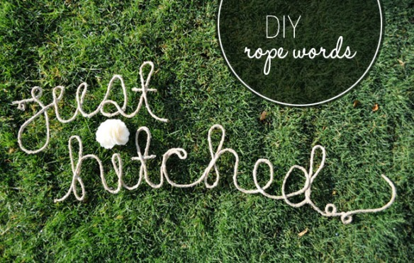 diy, diy mondays, diy weddings, rope words