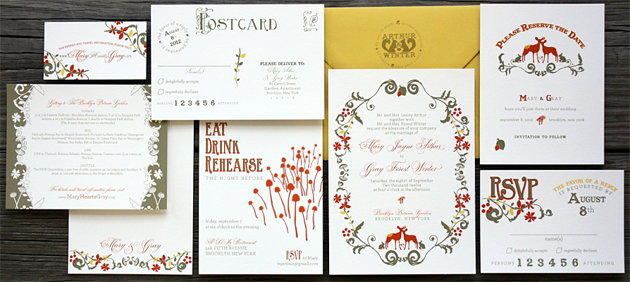 wedding invitation suites | best day ever