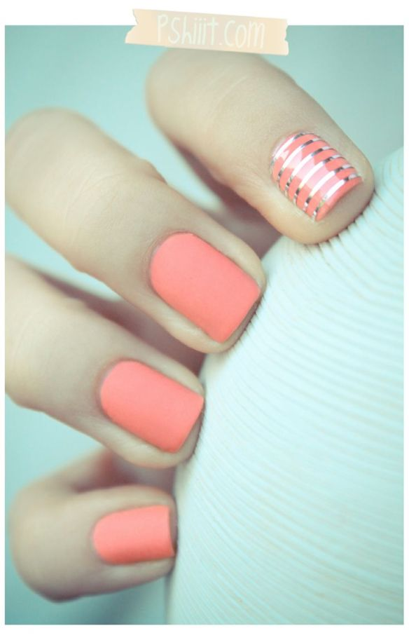 wedding trend, accent nail