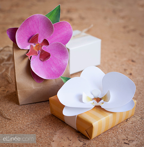 diy, diy mondays, diy weddings, paper orchid bloom favors, wedding favors
