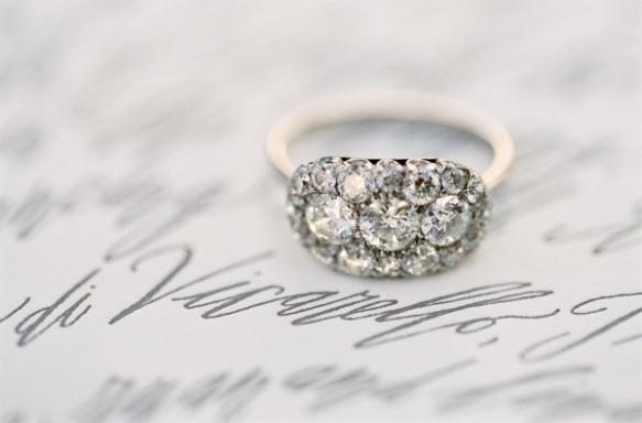 engagement ring, wedding ring