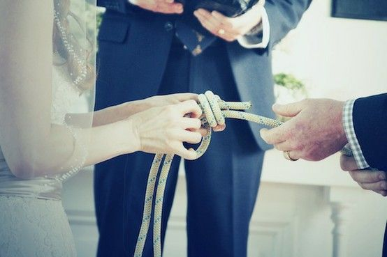 fisherman's knot, diy wedding