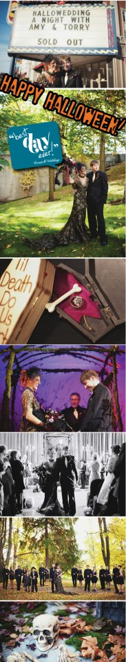 halloween wedding, happy halloween