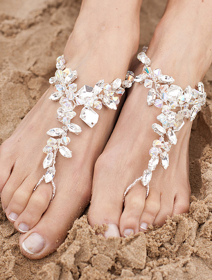 bridal barefoot sandals, barefoot sandals, bridal shoes, hawaii beach wedding