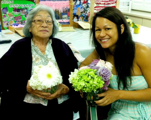 share the aloha, best day ever hawaii, nicolette and william, flower donations, donate wedding flowers, island nursing