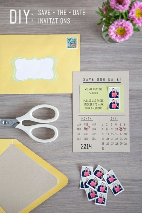 diy mondays, diy, instagram, save the dates, wedding save the dates