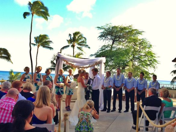 hawaii wedding, oahu wedding, halekulani hotel, halekulani hotel wedding, dane and belinda, best day ever hawaii, destination wedding, australian couple