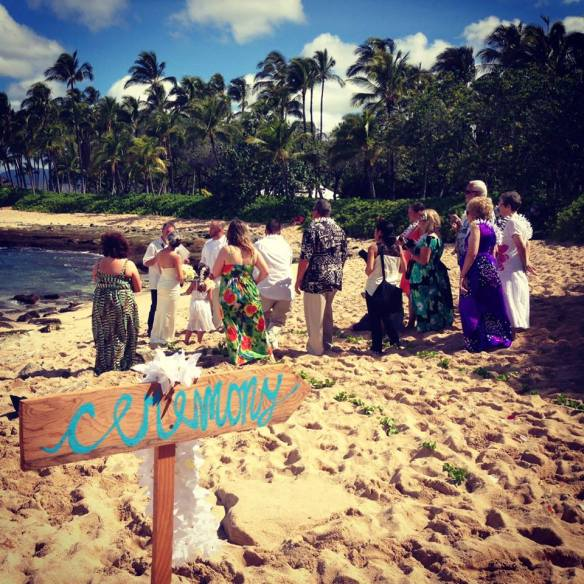 hawaii wedding, oahu wedding, beach wedding, secret beach, secret beach wedding, koolina wedding, willie and natalie, best day ever hawaii