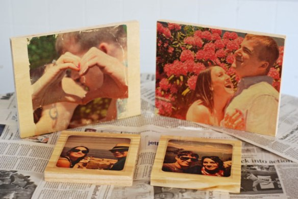 diy, diy mondays, wedding decor, wood photo transfers, wedding photos