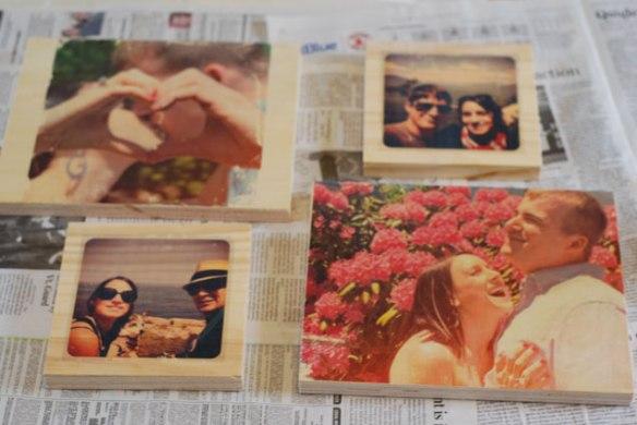 diy, diy mondays, wedding decor, wood photo transfers, wedding photos