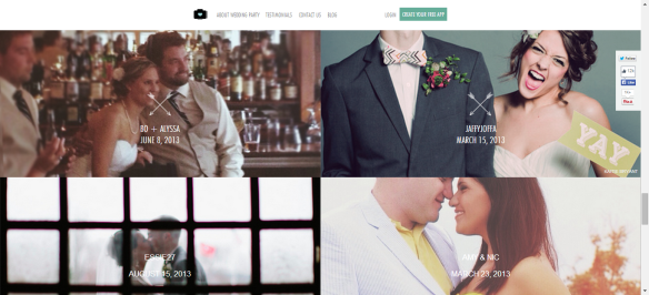 wedding party app, wedding trend