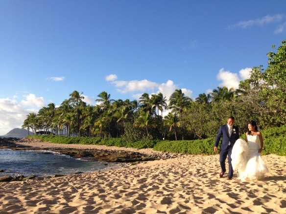 hawaii beach wedding, oahu beach wedding, australian hawaii wedding, hawaii koolina wedding, hawaii wedding planner, best day ever hawaii