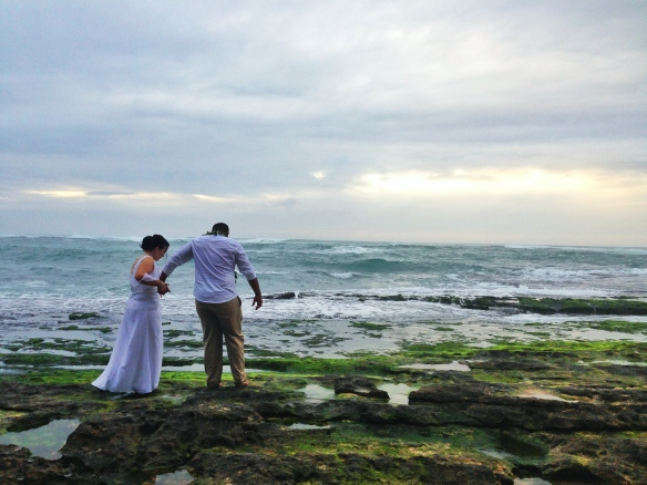 Ashlene and Roy, hawaii beach wedding, North Shore Beach Wedding, oahu beach wedding, Papailoa Beach Wedding