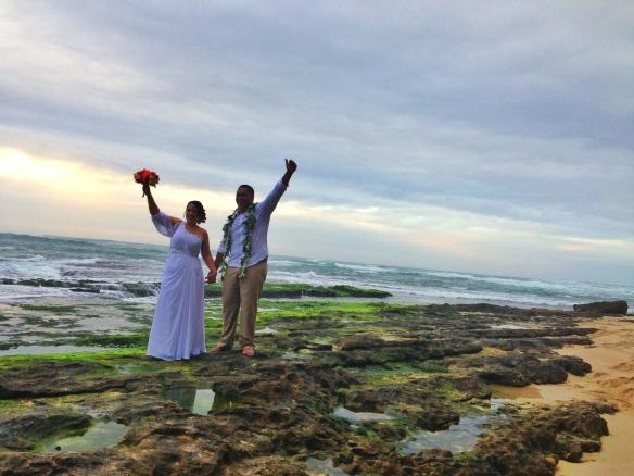 Ashlene and Roy, hawaii beach wedding, North Shore Beach Wedding, oahu beach wedding, Papailoa Beach Wedding