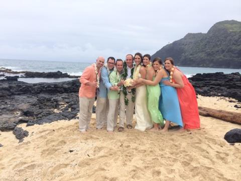 hawaii beach wedding, Makapuu Beach Wedding, Mike and Amanda Wedding, oahu beach wedding, Rainy Hawaii Wedding
