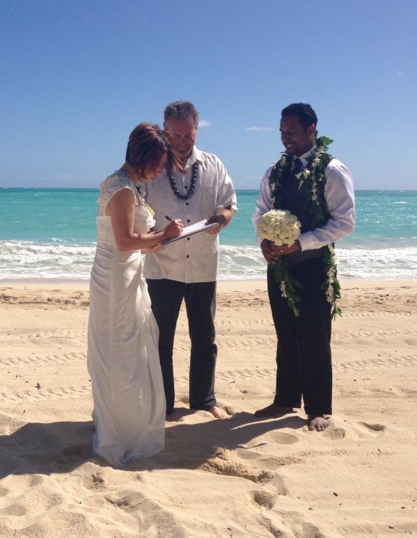 Destination Beach Wedding, destination wedding, hawaii beach wedding, oahu beach wedding, Sean + Angel, Sean + Angel's Best Day Ever, Waimanalo Bay Beach, waimanalo beach wedding