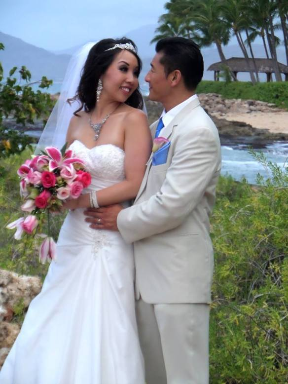 Ky and Lorrie, hawaii  wedding, Ihilani Koolina Wedding, oahu wedding