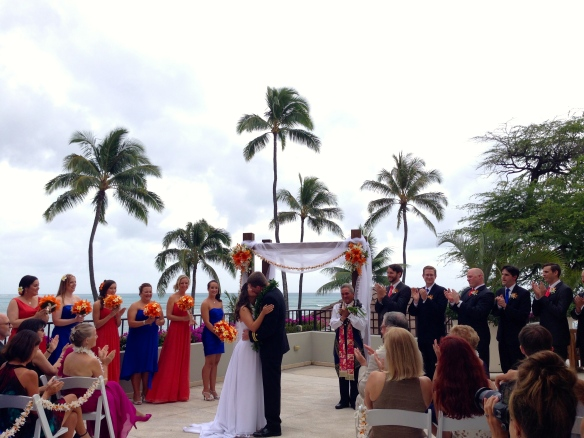 Halekulani Hau Terrace Hawaii Wedding