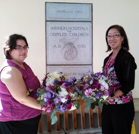 share the aloha, share the aloha program, floral donations, adam and jessica, ihilani koolina, shriners childrens hospital